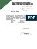Surat Ke KADES LANGGUR Pinjam Pakai Gedung Balai Ohoi PERUBAHAN