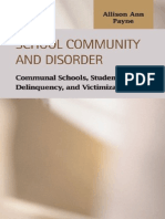 Allison Ann Payne School Community and Disorder- Communal Schools, Student Bonding, Delinquency and Victimization (Criminal Justice (Lfb Scholarly Publishing Llc).)