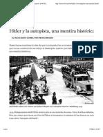 Hitler y la autopista, una mentira histórica | Historia | DW.COM | 06.08.2012