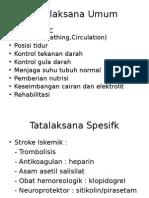Tatalaksana Umum Stroke