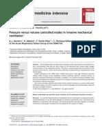 TRANSPLANTSPressure Versus Volume Controlled Modes in Invasive Mechanicalventilation