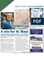 maui news 2015 joe pluta realtor west maui hospital advocate