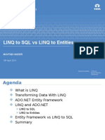 Linq to SQL vs Linq to Entities