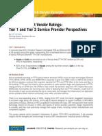 2010 Infonetics Research Survey Excerpts Ftth Equipment Vendor Ratings 091010