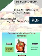 Clases 2 - POSTCOSECHA - Alteracion de los alimentos.pptx