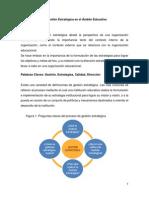 Artículo Gestión Estratégica en El Ámbito Educativo