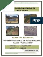 Perfil de Proyecto Huallanca-yanamachay