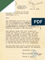 Edward M. Knapp Atomic Protest Letter