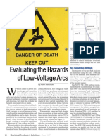 Hazards Low Voltage Arcs