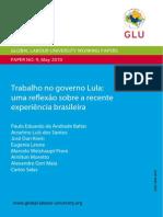 GLU - Trabalho No Governo Lula