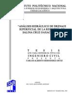 270_analisis Hidraulico de Drenaje Superficial de La Refineria de Salina Cruz Oaxaca