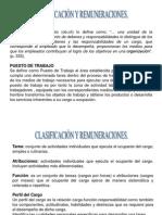 Clasificación y Remuneraciones