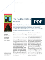 The Road to Mobile Payments Services