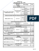 ArcWear Rates in Fabrics