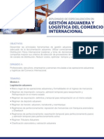 Temario Dip Gestion Aduanera y Logistica