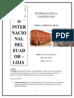 Materiales de La Cosntruccion - Ladrillo , Tejas