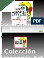 CATALOGO DE ARTESANÍAS ECUATORIANAS VILCA SACHA