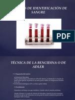 Técnicas de Forenses Identificación de Sangre