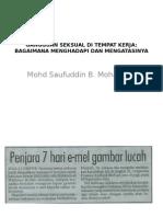 Gangguan Seksual Di Tempat Kerja dalam malaysia