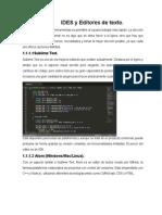 IDES y Editores de Texto