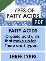 fs-types of fatty acids