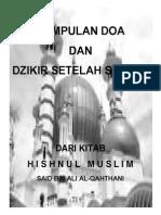 KUMPULAN DOA Dan Dzikir Setelah Sholat (PDF)