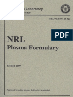 Anon - Naval Research Laboratory Plasma Formulary - NRL - 2009