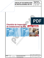 Checklist de Isnpeccion De Sistemas Contra Incendios