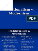 Traditionalism v Modernism