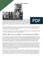 Dressing Like a Man for Mass