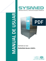 Manual de Usuario Autoclave Sterilite 250-Bpa