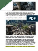 Jurassic World (2015) Film Review By David L. $Money Train$ Watts - FuTurXTV & Funk Gumbo Radio - 6-30-2015