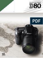 Nikon D80 Pamphlet