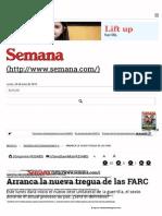 Arranca La Sexta Tregua de Las FARC - Semana