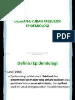 Pertemuan 9 Ukuran Frekuensi Epidemiologi