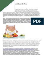 recomendaciones para bajar de peso oms international