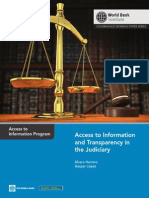 Access to Information and Transparency in the Judiciary