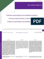 Predictores Neuropsicológicos de Las Habilidades Académicas