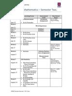 10 General Mathematics Semester 2 timeline (2015)