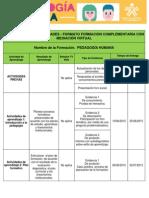 Cronograma de Actividades Pedagogía Humana