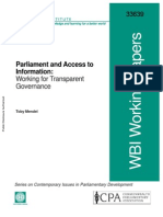 Parliament and Access to Information