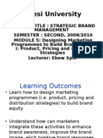 Designing Marketing Programmes to Build Brand Equity I Product Pricing and Channel Strategies