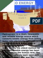 Power point presenatation on Hydrolic Energy