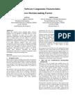 Impact of Software Components Characteristics Above Decision-making Factors