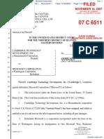 Cambridge Technology Development, Inc. v. Microsoft Corporation - Document No. 1