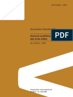 Australian Standard Contract General conditions of contract (AS 2142-1992)