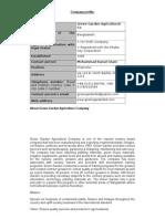 Company Profile and Organogram