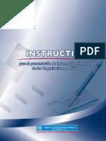 Instructivo para la Presentación de Información Financiera, 2011