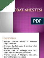 Obat Anestesi Nora
