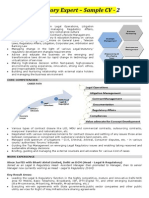Regulatory Expert - Sample CV 2